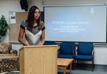 MicroLoan grant presenter